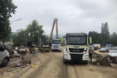 Flutkatastrophe2021: Schmidtgartenbau bei der Unterstützung